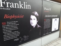 Outside the Franklin-Wilkins Library on the Waterloo campus. Go Rosalind! You rock!