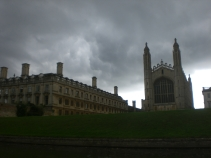 Hello rain, nice of you to join us on our visit to Cambridge. (NOT edited photo of King's College Chapel.)